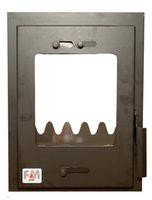 Дверца стальная со стеклом Weekend маленькая с рамой