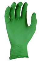 Перчатки  из нитрила без талька  - зеленые - 100 шт.