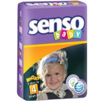 Senso Baby подгузники Maxi 4, 7-18кг. 19шт