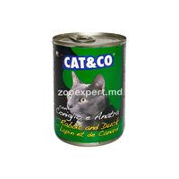 Cat & Co кусочки в соусе утка с кроликом 405 gr