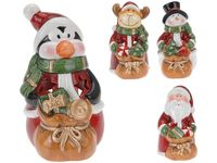 купить Подсвечник керамический Санта/Олень/Пингвин/Снегов 11cm в Кишинёве