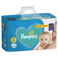 Pampers Scutece Giant Pack 2, 3-6 kg, 100 buc.