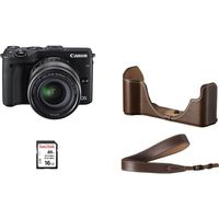 DC Canon EOS M3 & EF-M 18-55 STM + Premium Kit (SD Card 16Gb & Body Jacket EH27-CJ & Neck Strap EM-E2)