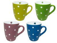 Чашка керамическая с белыми точками