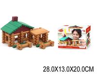 Конструктор деревянный домик 90 штк