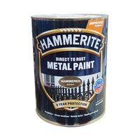 Hammerite Краска для металла Коричневая молотковая 0.75л
