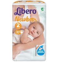 Libero подгузники Newborn 2, 3-6кг 70 шт