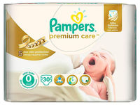 Подгузники Pampers Premium Care 0 (<2,5 kg) 30 шт