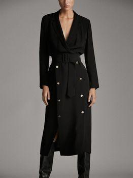 Платье Massimo Dutti Чёрный 6604/534/800
