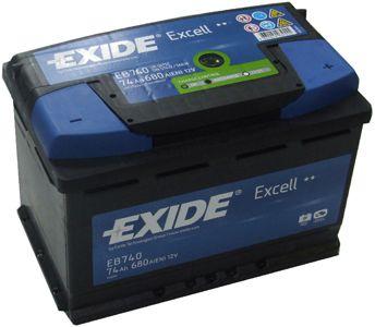 купить Exide EXCELL 74Ah 680EN 278x175x190 -/+ в Кишинёве