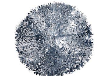 Снежинка серебряная из фольги