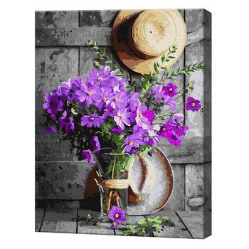 Букет полевых цветов в вазе, 40х50 см, картина по номерам Артукул: GX37070