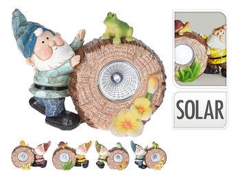 """Фонарь на солнечной батарее """"Гном с животными"""" 13Х9X7cm"""
