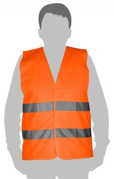 купить Жилет светоотражающий (оранжевый) - XXL TOLSEN в Кишинёве