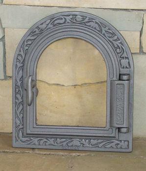 Дверца чугунная со стеклом правая DPK9