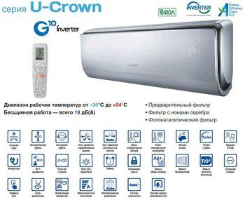 купить Кондиционер Gree U-CROWN Silver GWH12UB-K3DNA4F (35m2) в Кишинёве