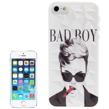 Чехол для iPhone 5 / 5S 3D Diamond BAD BOY прозрачный