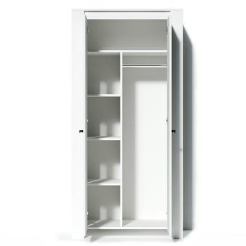 Шкаф платяной Belford Белый Ясень