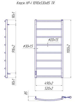 Классик HP -I 1090x530 TR K таймер-регулятор