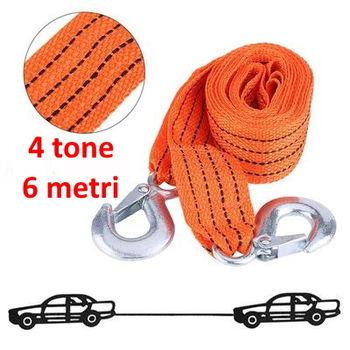 купить Ремень буксировочный с крючками 4000 kg 6 m в Кишинёве