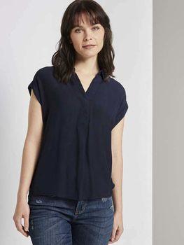 Блуза TOM TAILOR Темно синий 1021408 tom tailor
