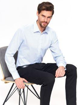 Рубашка TOP SECRET Белый/голубой SKL2780BI