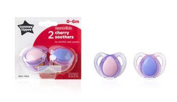 купить Tommee Tippee пустышка латексная Basics Cherry, 0-6 мес. 2шт в Кишинёве
