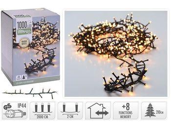 Огни новогодние ветка 1000LED, 20m, 8режимов, тепл.-белый