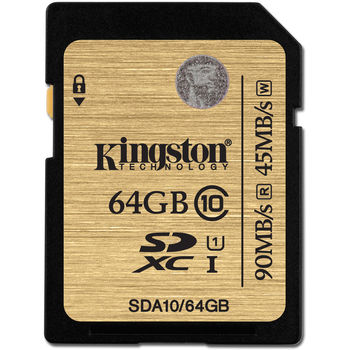 Kingston 64GB SDXC Class10 UHS-I, Ultimate, 600x, Up to: 90MB/s