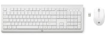 HP C2710 Combo Keyboard, Sleek and modern wireless keyboard and mouse, White