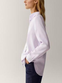 Блуза Massimo Dutti Светло фиолетовый 5176/509/602
