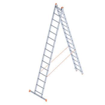 Лестница алюминиевая Sarayli Double Type A 2x15