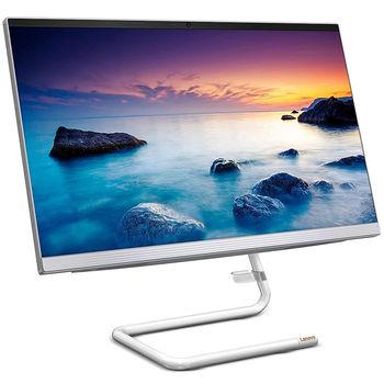 "Monobloc PC Computer 23.8"" Lenovo IdeaCentre AIO 3 24ARE05 White, AMD Ryzen 3 4300U 2.7-3.7GHz/8GB DDR4/SSD 256GB/AMD Radeon Graphics/DVDRW/Webcam HD/Speakers 2x3W/WiFi 802.11AC +Bluetooth 5.0/Gigabit LAN/23.8"" FullHD WVA (1920x1080)/Wireless Keyboard&Mouse/No OS"