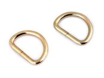Inel metalic tip D, 20 mm, auriu