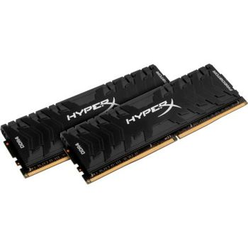 16GB (Kit of 2*8GB) DDR4-2666  Kingston HyperX® Predator DDR4 (Dual Channel Kit), PC21300, CL13, 1.35V, Asymmetric BLACK low-profile heat spreader, Intel XMP Ready  (Extreme Memory Profiles)