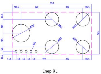 Газовая панель Reginox Enep XL 5-Pitt