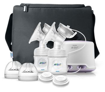 купить Philips Avent  молокоотсос  двойной электронный  Comfort Natural в Кишинёве