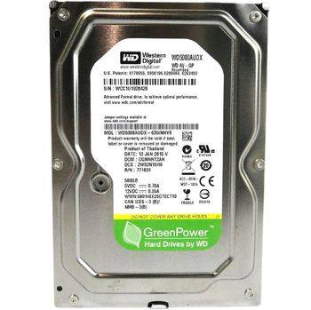 "купить Жесткий диск 3.5"" HDD 500GB-SATA-32MB Western Digital ""AV-GP (WD5000AUDX)"" в Кишинёве"