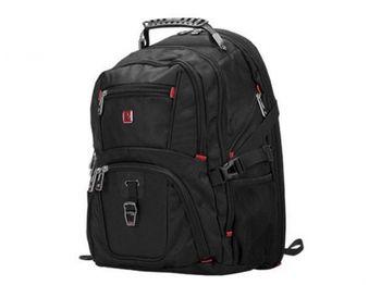 "15.6"" NB backpack Continent  - BP-301BK (Schwyzcross), Black, Main Compartment: 38.8 x 24 x 3.7 cm, Dimensions: 46.6 x 36.5 x 21.6 cm"