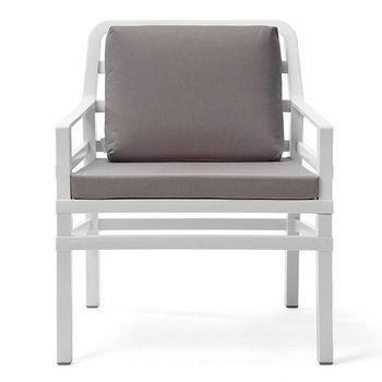 Кресло с подушками Nardi ARIA BIANCO grigio 40330.00.163.163 (Кресло с подушками для сада и терас)