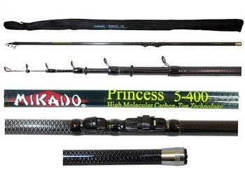 Удочка телескопическая с кольцами Mikado Princess 4м 10-30г