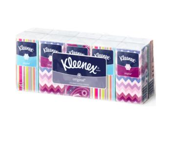 Платочки Kleenex, Белые, 10 штук