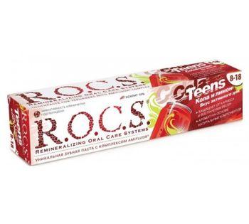 """купить R.O.C.S. Зубная паста для подростков """"Кола и Лимон""""(8-18) 471903 в Кишинёве"""