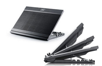 """купить DEEPCOOL """"N9 BLACK"""", Notebook Cooling Pad up to 17"""", 1 fan - 180mm  with fan speed control button, 600-1000rpm, <16~20 dBA, 84.7CFM, 6 viewing angles adjustable, 4x USB, all aluminum extrusion panel, Alum в Кишинёве"""