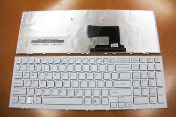 Keyboard Sony VPCEH (EE / EL) w/frame ENG. White