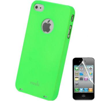 Чехол Moshi Soft-touch + защитная пленка для iPhone 4 / 4S зеленый