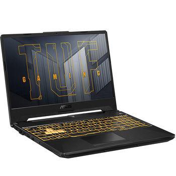 """Ноутбук 15.6"""" ASUS TUF Gaming A15 FA506QM, AMD Ryzen 7 5800H 3.2-4.4GHz/16GB DDR4/M.2 NVMe 512GB SSD/GeForce RTX3060 6GB GDDR6/WiFi 6 802.11ax/BT5.1/USB Type C/HDMI/Backlit RGB Keyboard/15.6"""" FHD IPS LED-backlit 144Hz (1920x1080)/NoOS/Gaming FA506QM-HN016"""