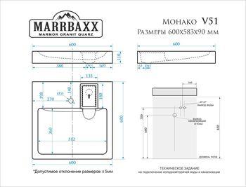 купить Раковины над стиральными машинами V051D1 в Кишинёве