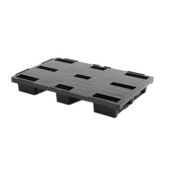 cumpără Palet din plastic 1200x800 mm, negru (capacitatea pina la 1000 kg) în Chișinău