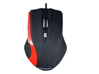 купить Mouse MODECOM MC-M5, Optical, 800-2400 dpi, 6 buttons, Black-Red, USB в Кишинёве
